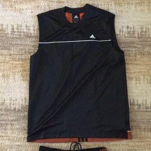 Men's Adidas jersey and shorts set